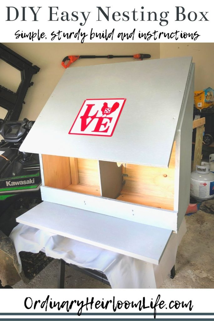 diy instructions for easy nesting box