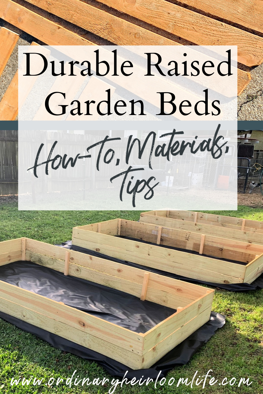 build durable raised garden beds