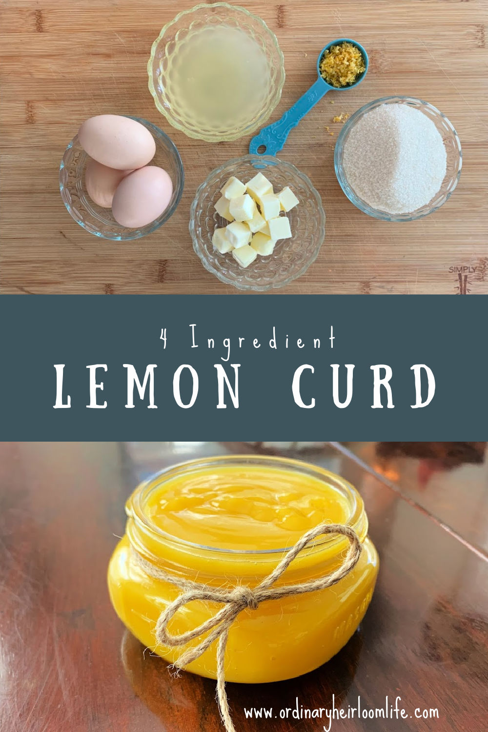 4 ingredient lemon curd Pin