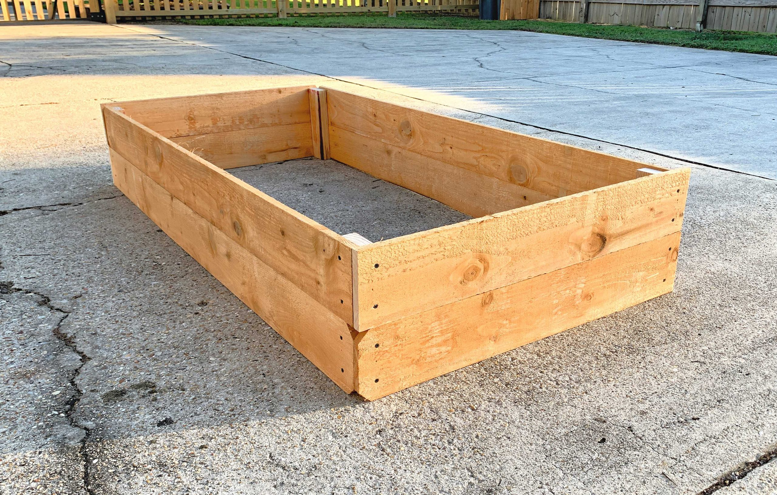 raised bed almost finished