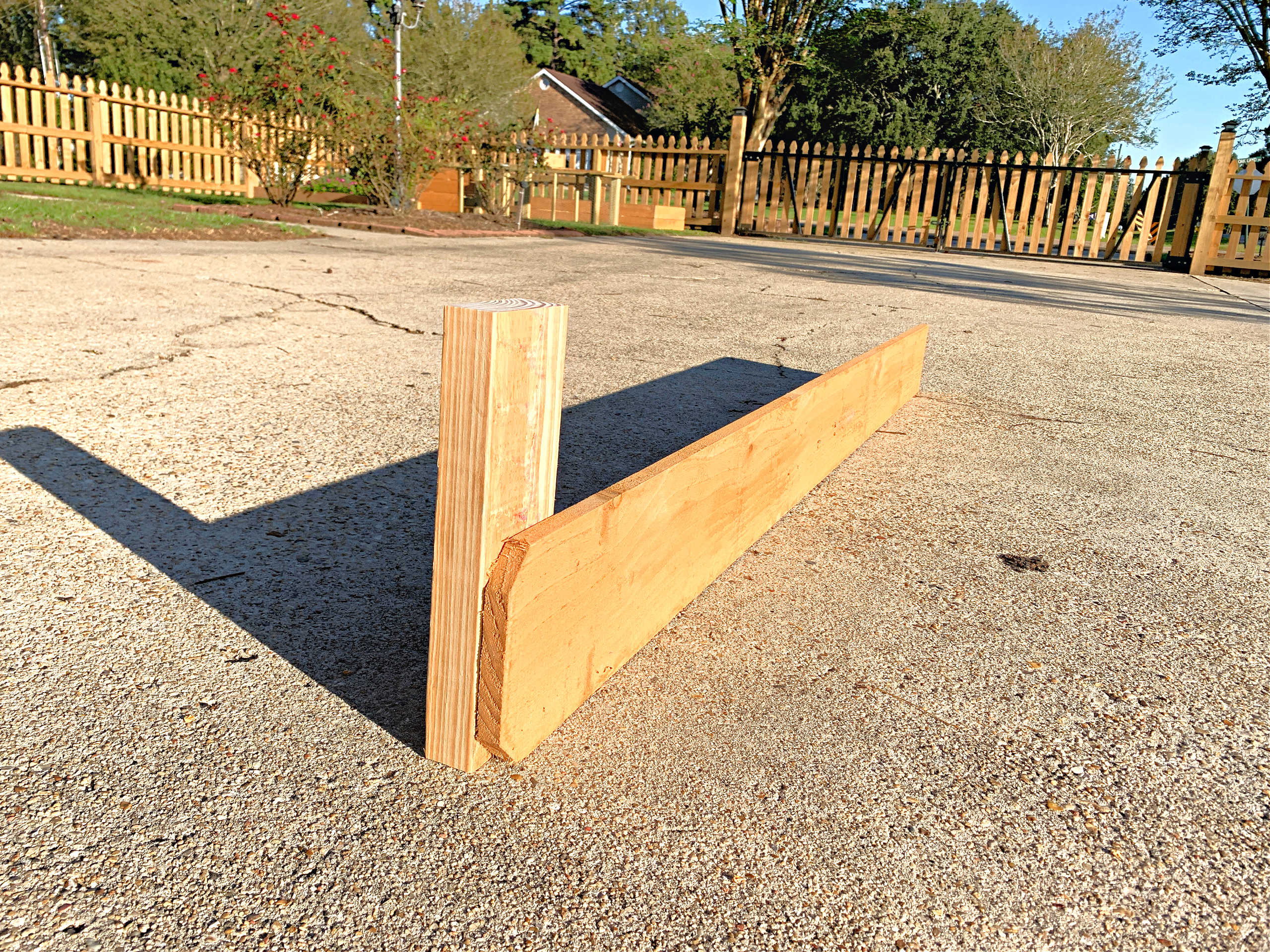 fence picket and 2x4